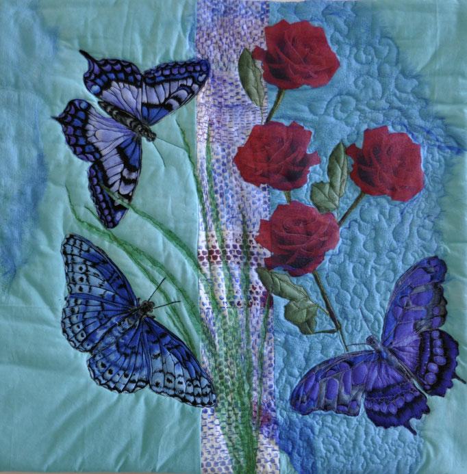 Sommertraum_Art-Quilt by Karin Flacke