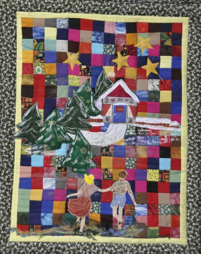 Hänsel und Gretel_c_Karin Flacke_Art Quilt