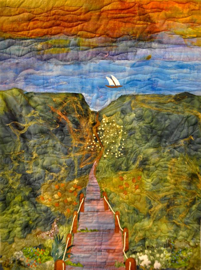ohne Titel I, Art Quilt by Karin Flacke