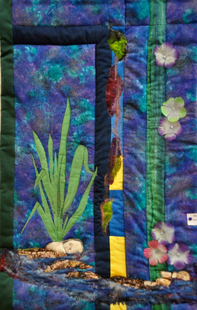 Wassergarten I, Art Quilt by Karin Flacke
