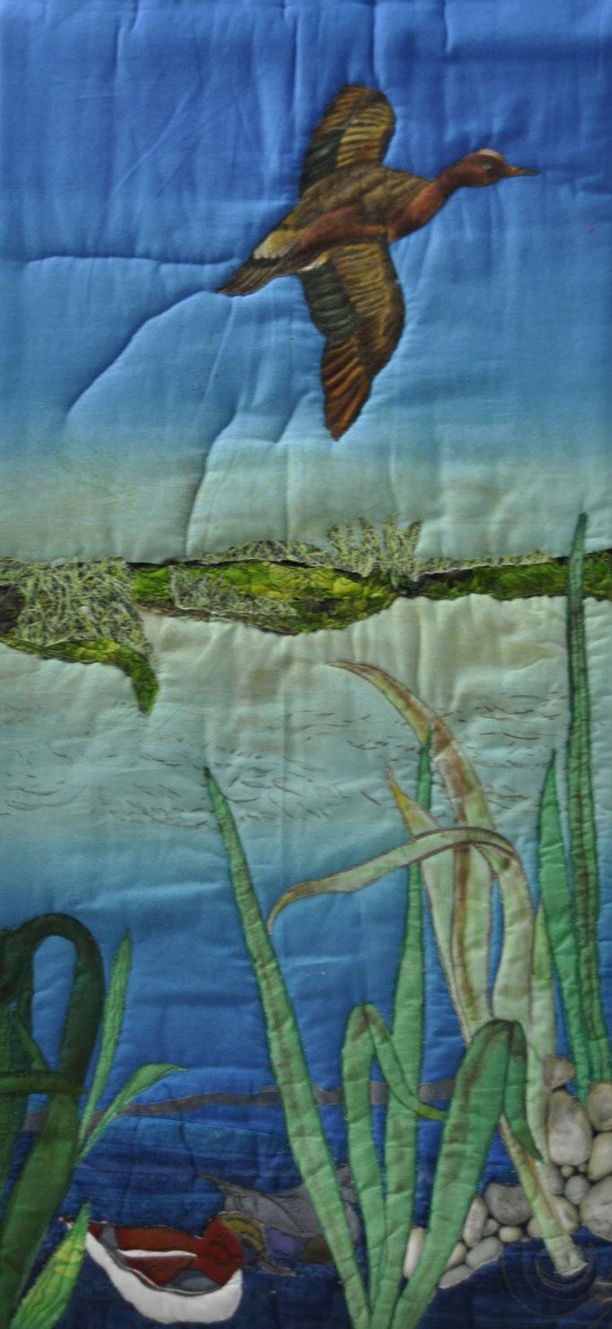 Wassergarten II_Art-Quilt by Karin Flacke