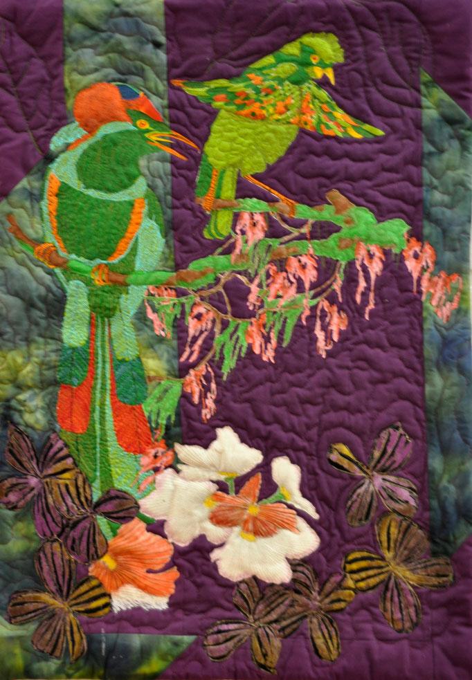 Gartenparadies, Art Quilt by Karin Flacke