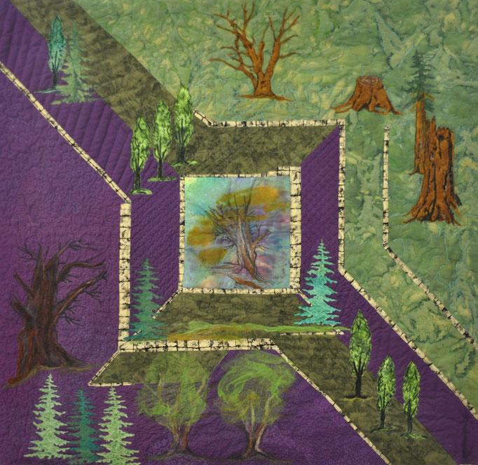 Waldspaziergang_Art-Quilt by Karin Flacke
