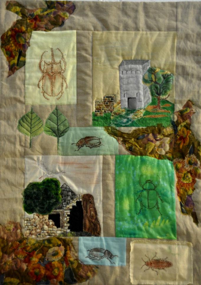 ohne Titel I_Art-Quilt by Karin Flacke