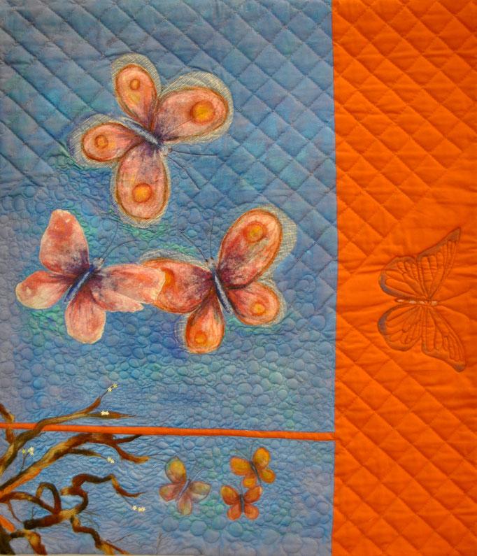 Serenade II, Art Quilt by Karin Flacke