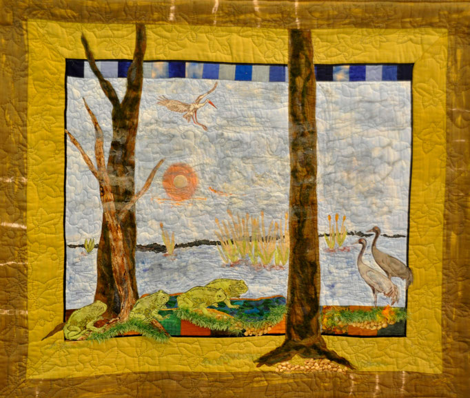 ohne Titel II, Art Quilt by Karin Flacke