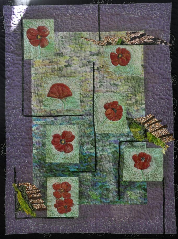 Lustwandeln_Art-Quilt by Karin Flacke