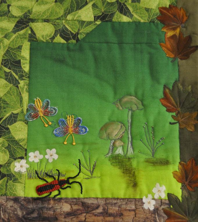 Poetry im Herbst_Art-Quilt by Karin Flacke
