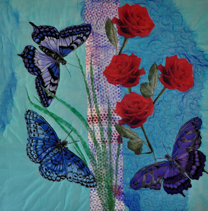 Sommertraum, Art Quilt by Karin Flacke