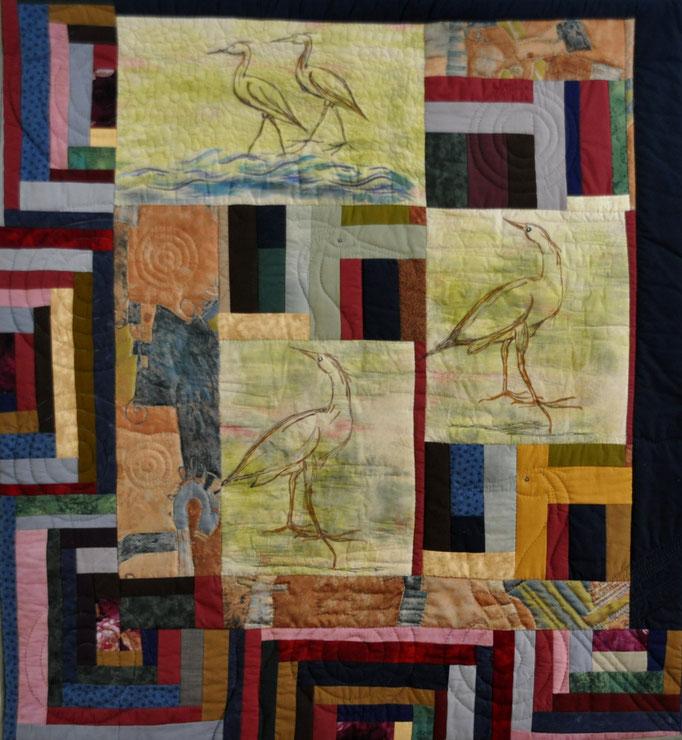 Sommergaeste_Art-Quilt by Karin Flacke