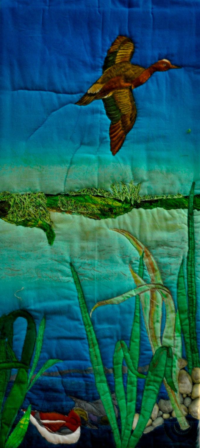 Wassergarten II, Art Quilt by Karin Flacke