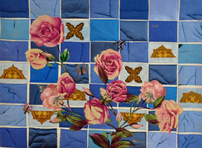 Broken Tiles, Art Quilt by Karin Flacke