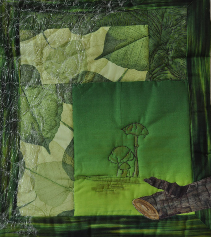 Waldpfad II_Art-Quilt by Karin Flacke