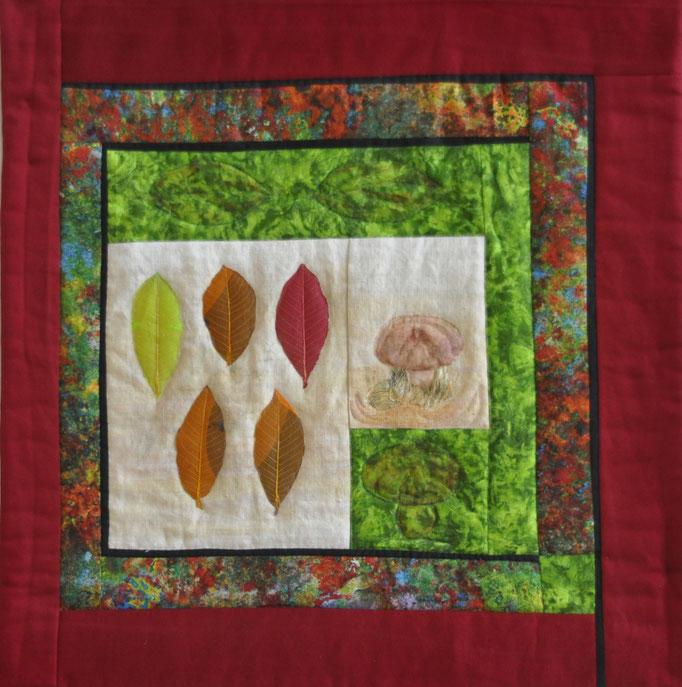 Herbstlich_Art-Quilt by Karin Flacke