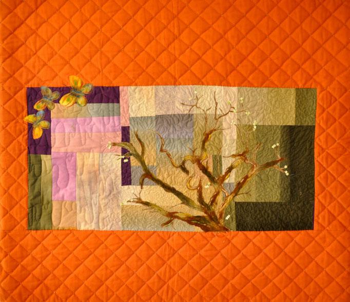 Serenade I, Art Quilt by Karin Flacke