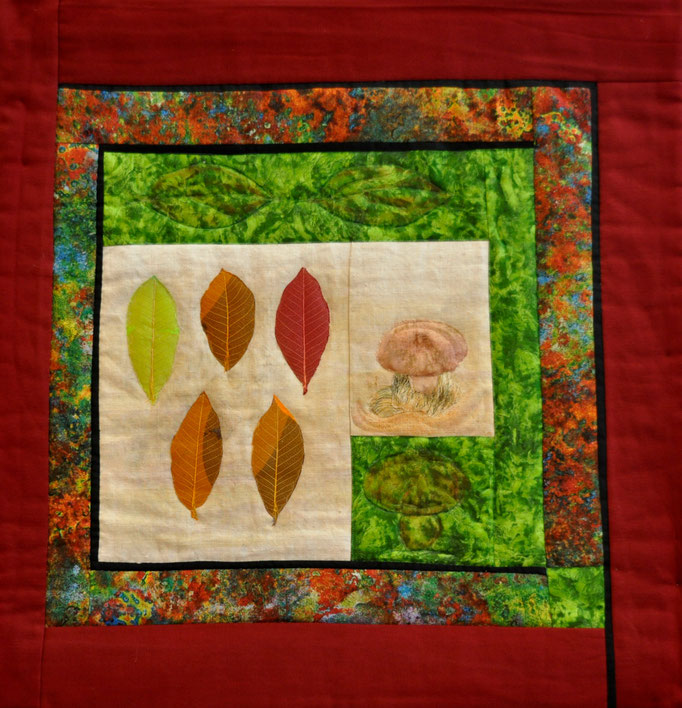 Herbstlich, Art Quilt by Karin Flacke