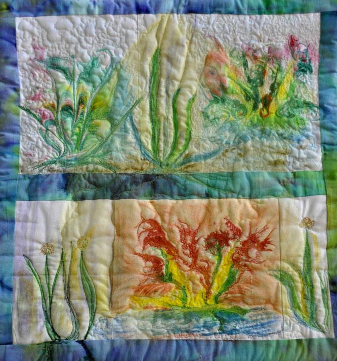 Nachtgedichte_Art-Quilt by Karin Flacke