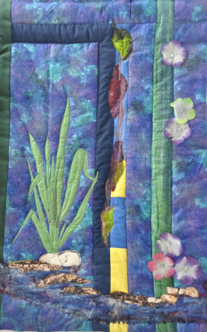 Wassergarten I_Art-Quilt by Karin Flacke