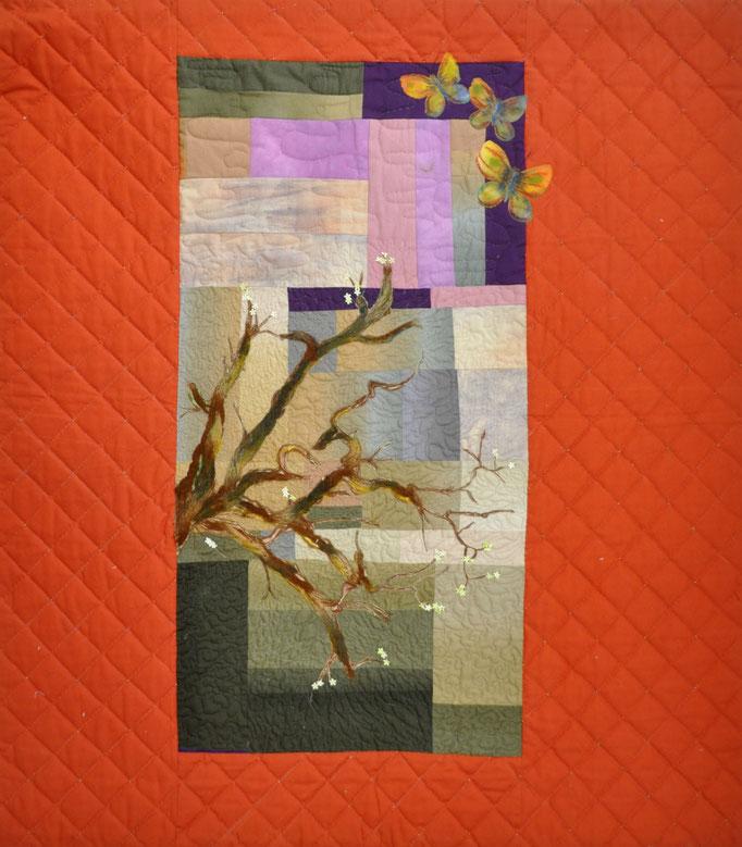 Serenade I_Art-Quilt by Karin Flacke