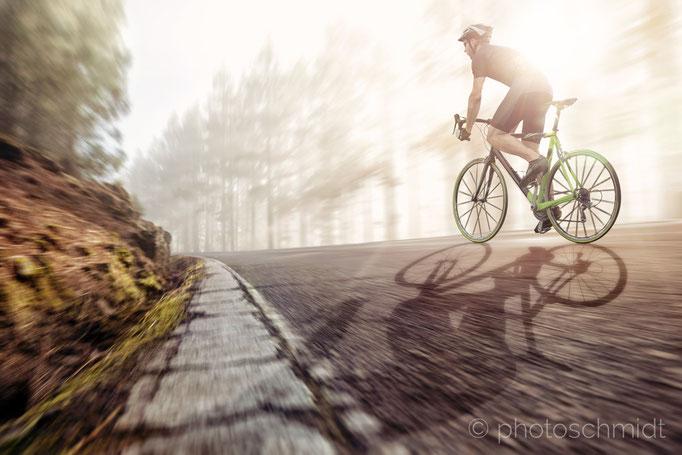 Fahrradfahrer beim Training
