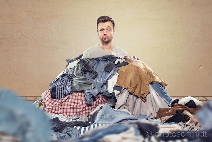 Dumm aus der Wäsche schauen