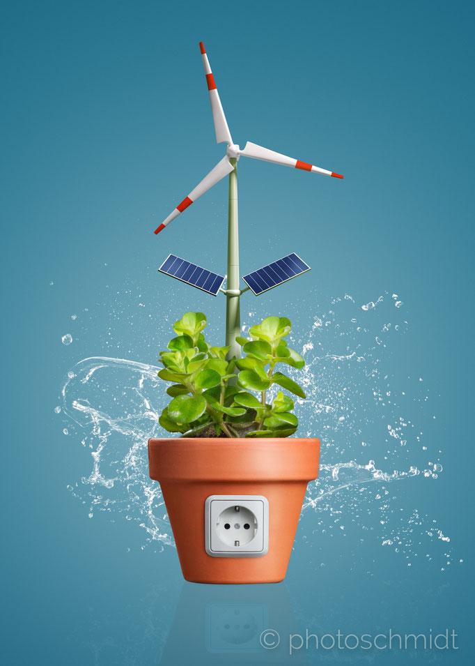 Erneuerbare Energien Konzept
