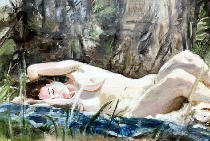sleepy_2019_135x200cm_oil on canvas