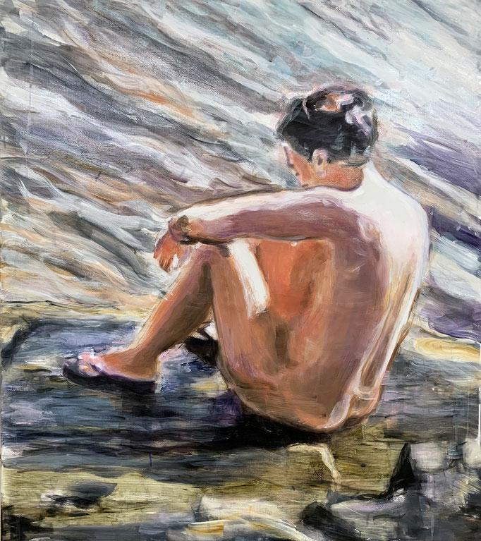 stone_2019_90x80cm_oil on canvas
