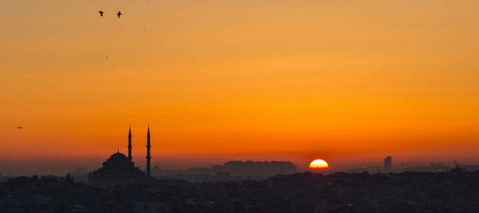 Sunset over Istanbul. May 2016.