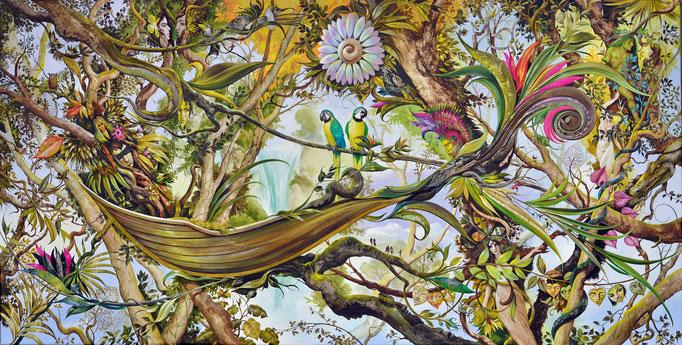 Drei Gelbe Macaws im Roten Traumregenwald