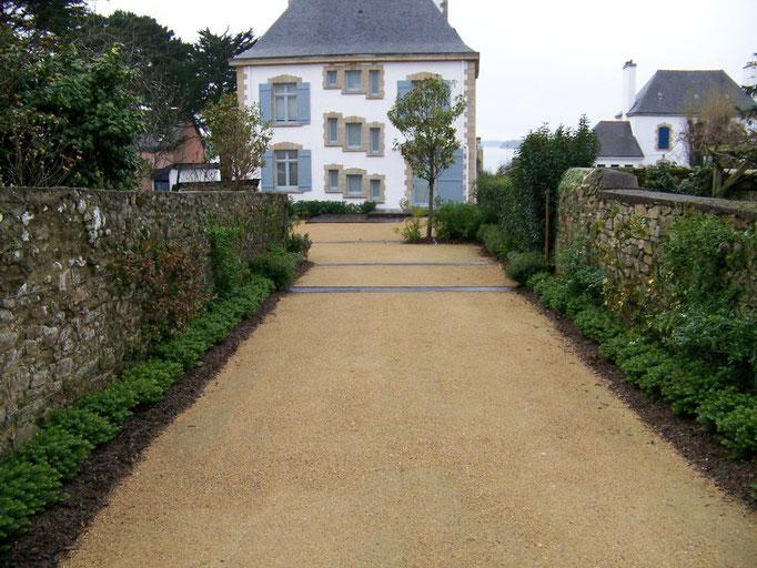 allée et plantation à Larmor-Baden
