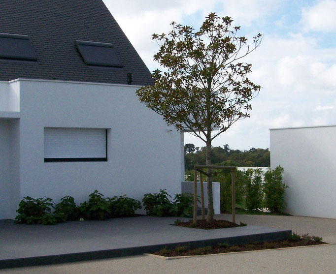 création de jardin à Conleau