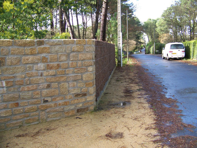 mur en pierres