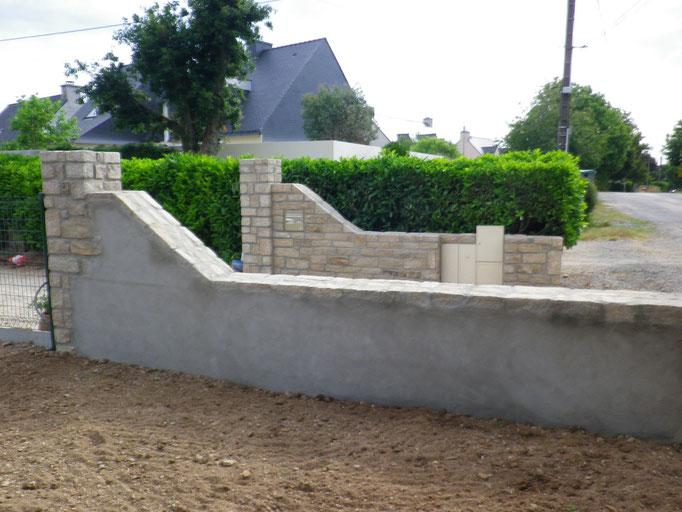 mur en pierre intérieur béton