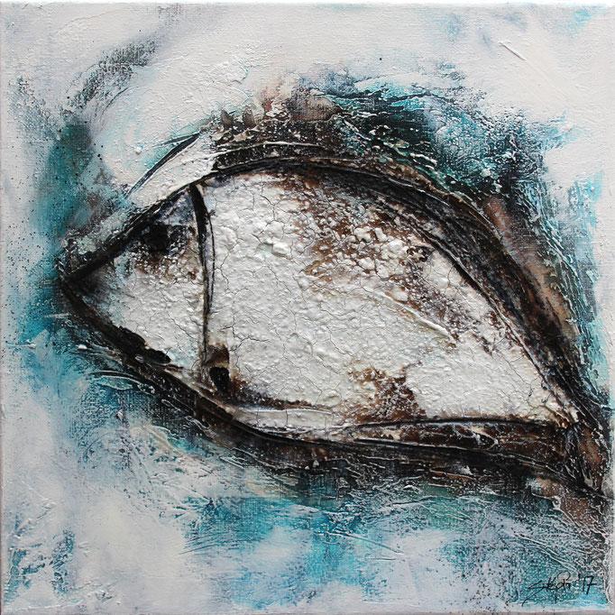 Blupp, 30x30x3,5 cm, Acryl Mischtechnik, 2017
