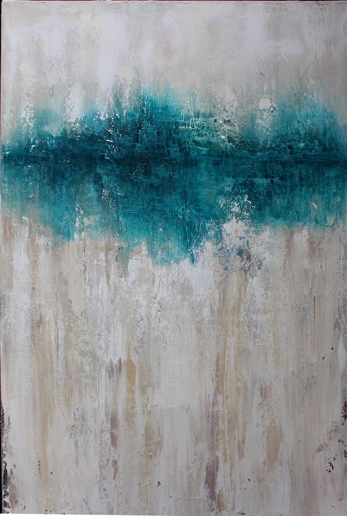 Blue Vintage , 110x80x2,5cm, Acryl Mischtechnik, 2017