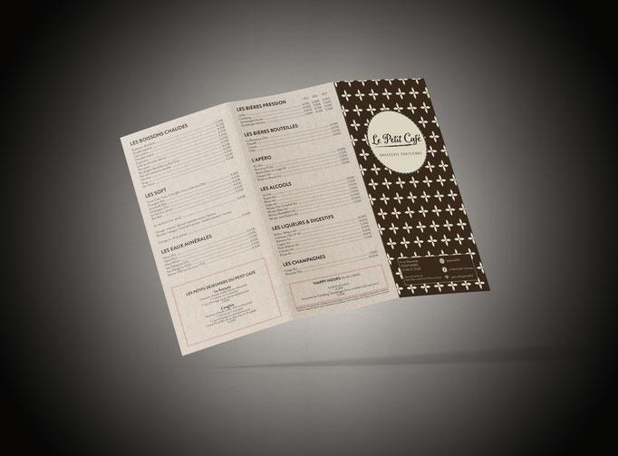 Création logo & couverture menu - Conception Menu - Print