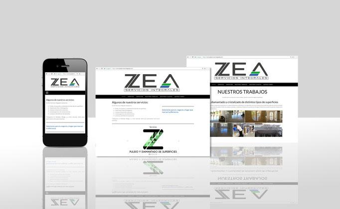 Diseño y desarrollo Web para ZEA Servicios Integrales