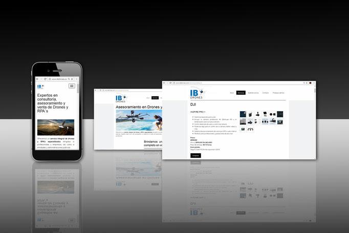 Diseño y desarrollo Web para IB DRONES
