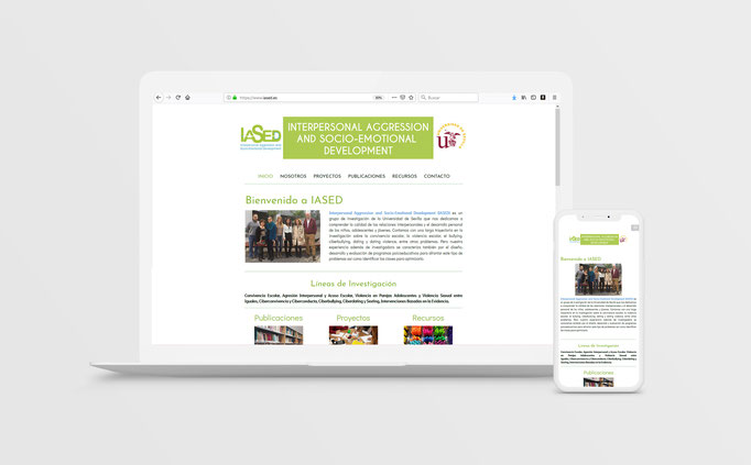 Diseño y desarrollo Web para IASED, Universidad de Sevilla