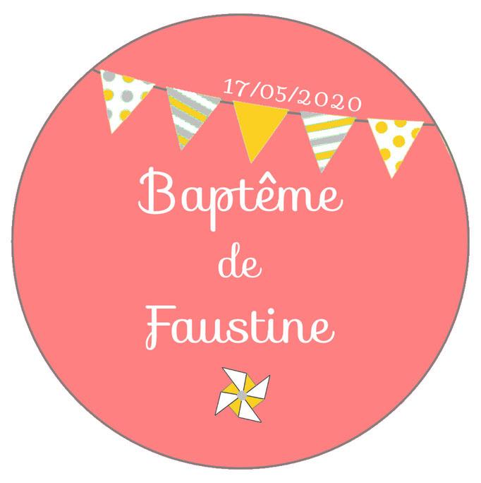 Déco de table baptême -fanions rose-