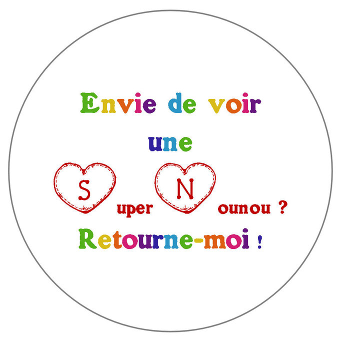 Super Nounou badge miroir magnet décapsuleur