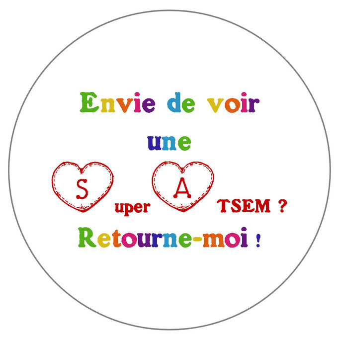 Super ATSEM badge miroir magnet décapsuleur