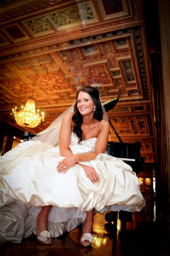 Sarah's wedding portrait held at the Athletic Club downtown, Columbus Ohio