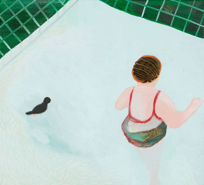 Bird and Granny/55x50cm/oil on canvas