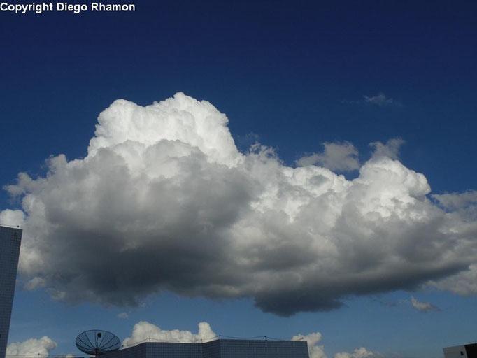 Cumulus mediocris vistas em Campina Grande, Paraíba, em 03/06/2014.