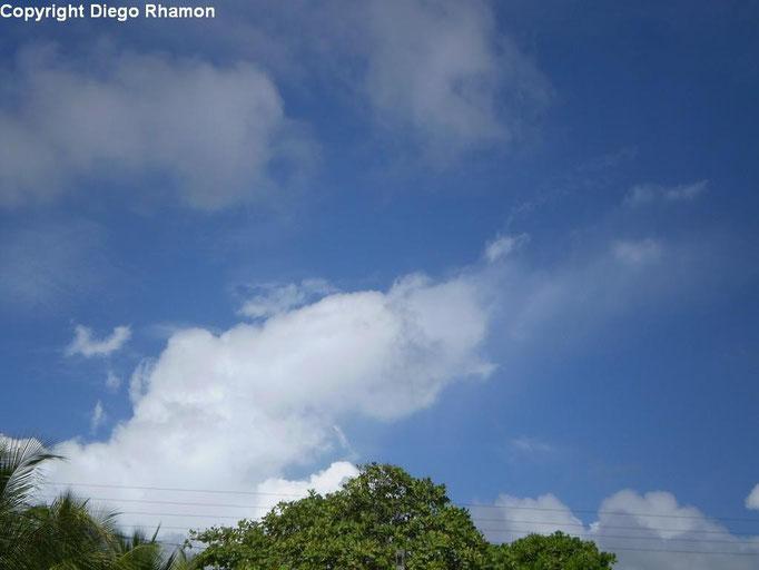 Altocumulus cumulogenitus vistas em Cabo de Santo Agostinho, Pernambuco, em 11/01/2011.