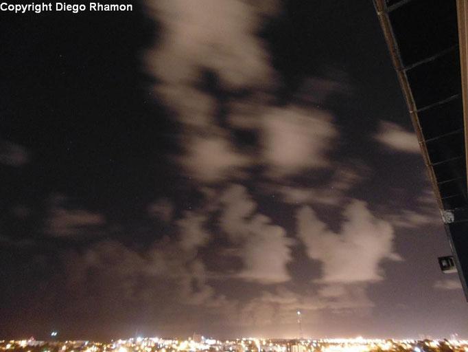 Cumulus humilis vistas em João Pessoa, Paraíba, em 10/01/2014.