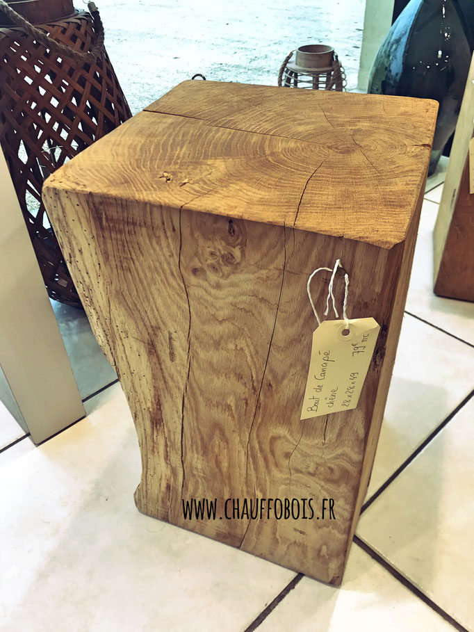 Bout De Canapé Cube De Bois Brut Bois De Chauffage 49