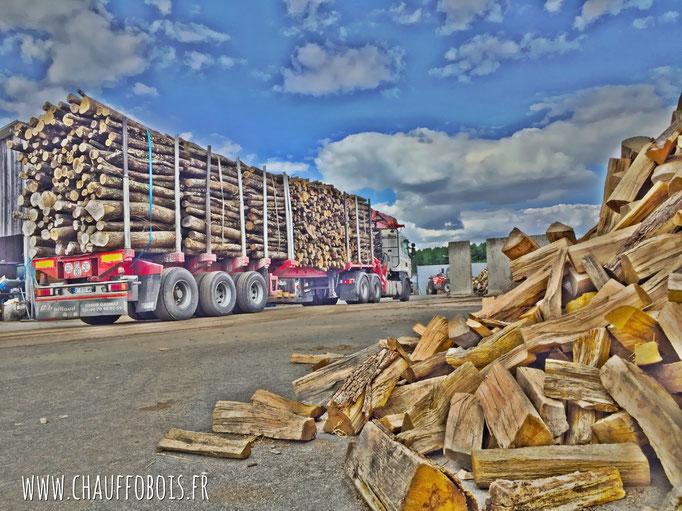bois de chauffage en 2 metres
